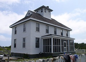 National Register of Historic Places listings in Carteret County, North Carolina - Image: Cape Lookout CG Station NPS