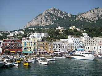 Capri, Campania - Capri harbor (Marina Grande)  and waterfront