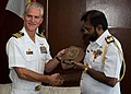 Capt. Glenn Jamison presents Rear Adm. KKJ De Silva 160725-N-GR718-077.jpg
