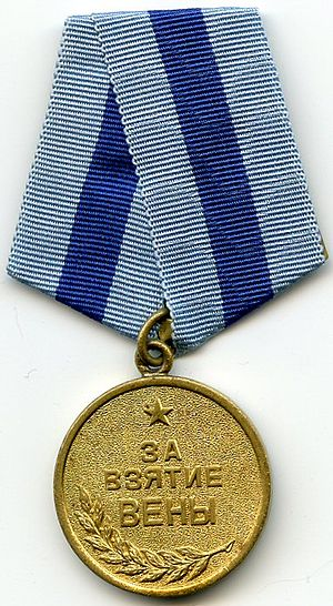 "Medal ""For the Capture of Vienna"" cover"