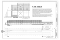 Car Shed - Plan and Section - Western Railway of Alabama Montgomery Rail Shops, 701 North Perry Street, Montgomery, Montgomery County, AL HAER AL-186 (sheet 12 of 14).png
