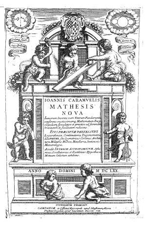 Juan Caramuel y Lobkowitz - Mathesis nova, 1670