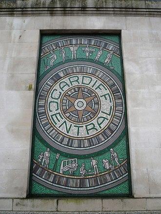 Taff Vale Rly Co v Amalgamated Society of Rly Servants - Image: Cardiff Central mosaic