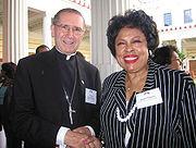 Cardinal Roger Mahony and Congresswoman Diane Watson