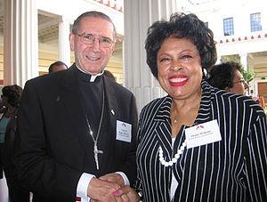 Roger Mahony - Cardinal Mahony with Rep. Diane Watson (D-CA)