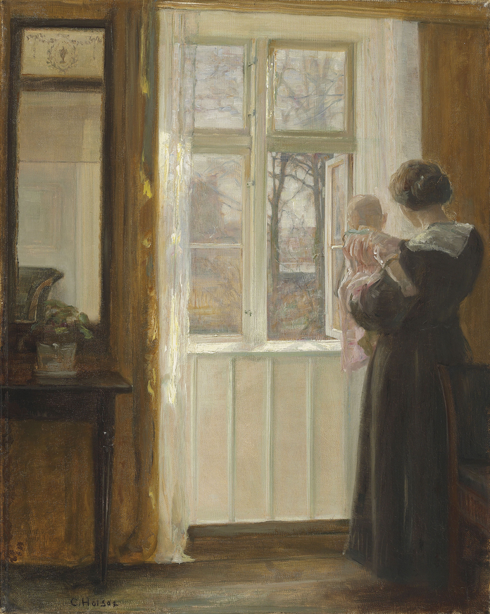 Interior with Mother and Child.