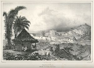 Papantla - Papantla ca. 1836 by Carl Nebel
