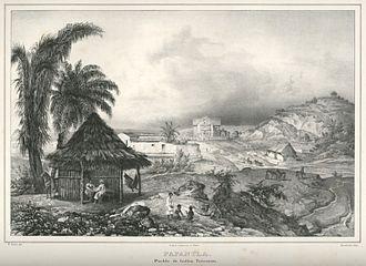 Papantla - Papantla ca. 1836 by Carl Nebel