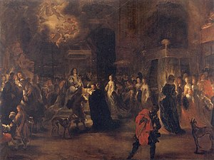 Bedding ceremony - After the wedding in 1654 of the King and Queen of Sweden