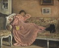 Carola Sitting on the Sofa (Gustaf Cederström) - Nationalmuseum - 22254.tif