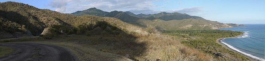 The Granma highway near the border of Granma and Santiago de Cuba provinces.