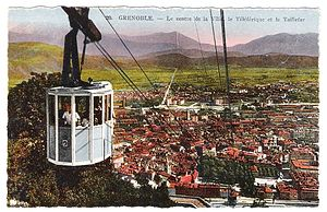 Grenoble-Bastille cable car - Blue cabins - 1934 to 1951.