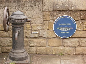 Low Fell - Carter's Well and its blue plaque
