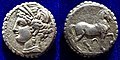 Carthage Tetradrachm Tanit & Horse, with a Serrated Edge. About 200 BC.jpg