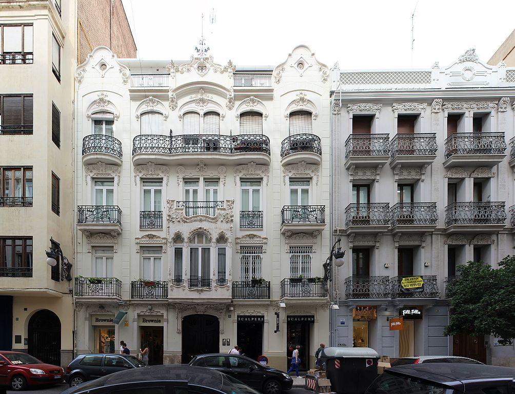 """Casa rosa ( tema """" Golfos"""" ) , continuación.. - Página 3 1004px-Casa_de_Salvador_Llop%2C_Valencia_de_Manuel_Peris_Ferrando%2C_calle_de_Jorge_Juan_13%2C_1911"""