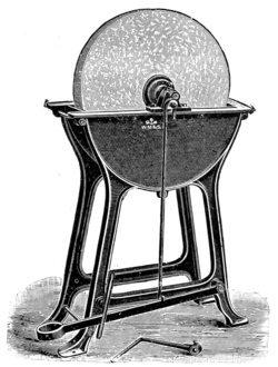 Cassells Carpentry.117 Treadle Grindstone on Iron Stand.png