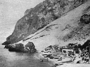 History of the Genoese in Gibraltar - Image: Catalan Bay (La Caleta) in the late 1800s