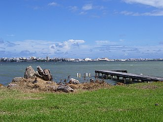 Cataño, Puerto Rico - View of the San Juan Bay from the Cataño shore.