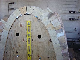 Kiln - Catenary arch kiln under construction
