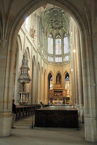 St. Barbara's Church, Kutná Hora - Image: Cathedral St Barbara interior