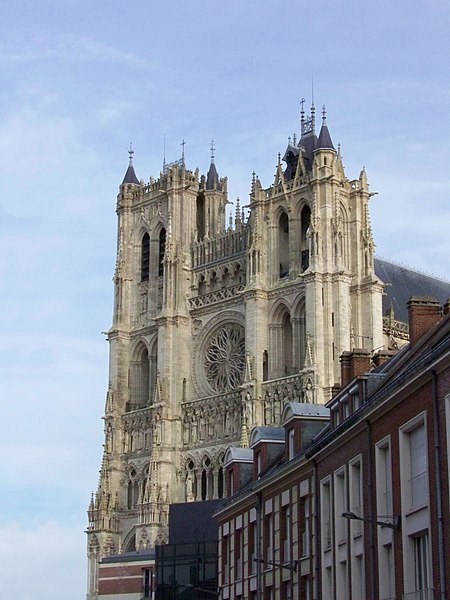 Cathedral Notre-Dame in Amiens, France, seen from downtown