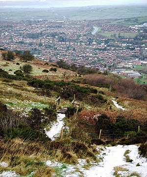English: Cave Hill and Glengormley A view over...