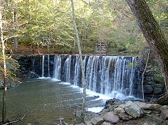 Burlington, North Carolina - Cedarock waterfall