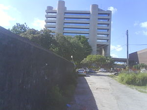 English: Central Bank of Barbados Building, Br...