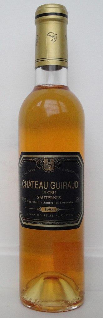 Château Guiraud - A half bottle of 1998 Château Guiraud.