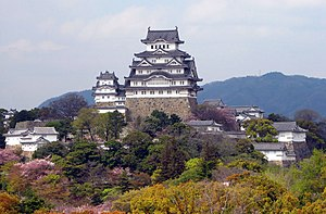 Himeji Castle - Front view of the castle complex