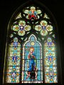 Chamant (60), église Notre-Dame, chœur, verrière du chevet.JPG