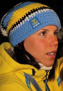 Charlotte Kalla under OS i Vancouver 2010