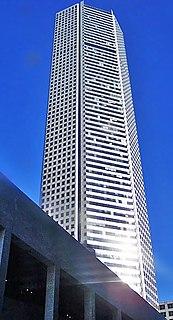 JPMorgan Chase Tower (Houston) skyscraper at 600 Travis Street in downtown Houston, Texas