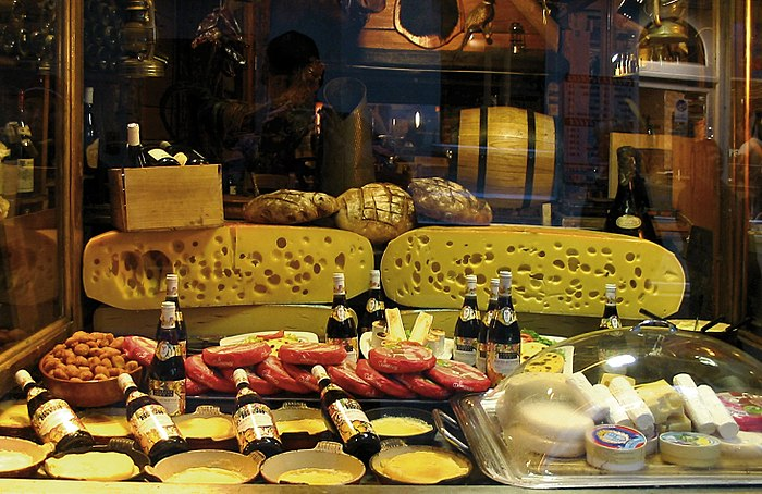Cheese shop window Paris