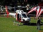 Chegada do Helicóptero Águia 14 (PR-SMU) da Polícia Militar no Domingo com o Astronauta. Evento comemorativo dos 10 anos do primeiro brasileiro no espaço, o Astronauta bauruense Marcos Pontes. - panoramio (4).jpg