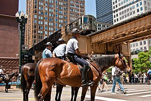 2012 Chicago summit - Chicago mounted police, 2010