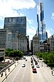 """Chicago (ILL) Downtown, E Monroe St. """" Mid continental plaza """" 1972 & """" Legacy Tower """" 2009 (4825765729).jpg"""