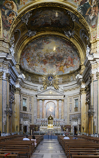 Church of the Gesù - Main nave and altar