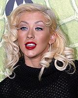 Christina Aguilera tại lễ kỉ niệm Motorola lần thứ 8, tháng 11 năm 2006.