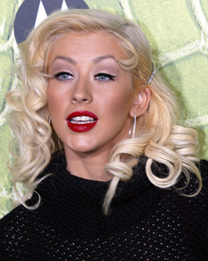 Singer Christina Aguilera at the Motorola 8th ...