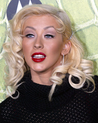 "American singer Christina Aguilera is known as ""The Voice of a Generation"". Christina Aguilera (2006).jpg"