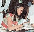 Christine Hakim signing autographs, Festival Film Indonesia (1982), 1983, p54 (crop).jpg