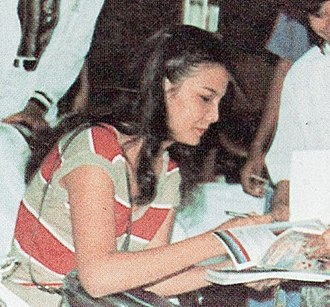 Christine Hakim - Hakim signing autographs at the 1982 Indonesian Film Festival
