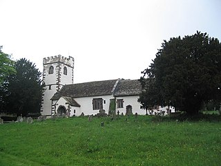 St Cadocs Church, Llangattock Lingoed Church in Monmouthshire, Wales