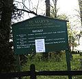 Church of St Mary, Stapleford Tawney, Essex, England - church sign.jpg