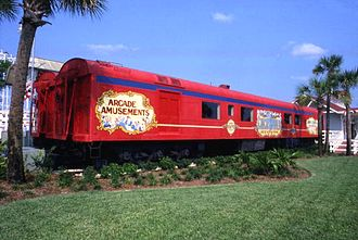 Boardwalk and Baseball - The antique Barnum and Bailey train cars that housed a display of circus memorabilia from Circus World