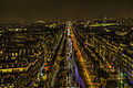 Cityscape Paris november at night light view on Champs Elesees (8204488131).jpg