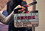 Clapperboard, O2 film, September 2008.jpg