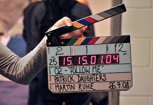 Clapperboard, O2 film, September 2008