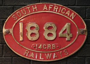 South African Class 14C 4-8-2, 2nd batch - Image: Class 14CRB 1884 (4 8 2)